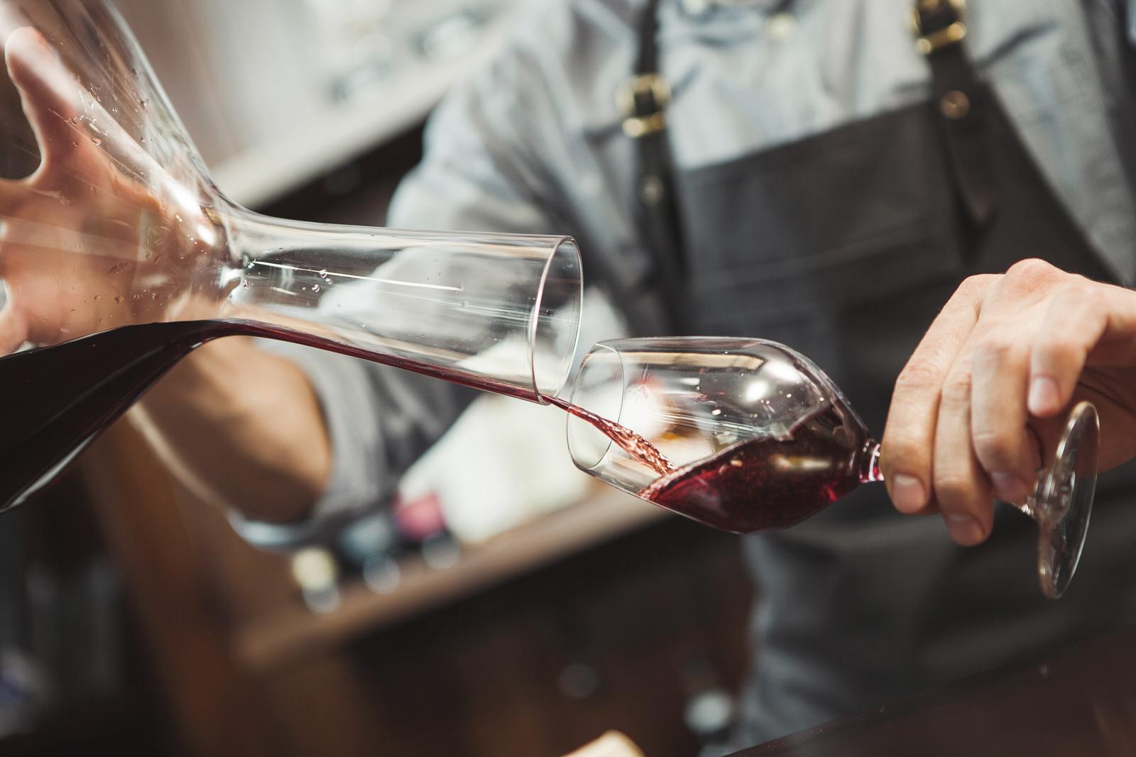 carafage vin rouge